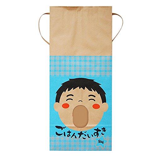 マルタカ クラフト ごはんだいすき 男の子(銘柄なし) 5kg用紐付 1ケース(300枚入) KH-0031 B077GLQYHZ 5kg用米袋|1ケース(300枚入) 1ケース(300枚入) 5kg用米袋