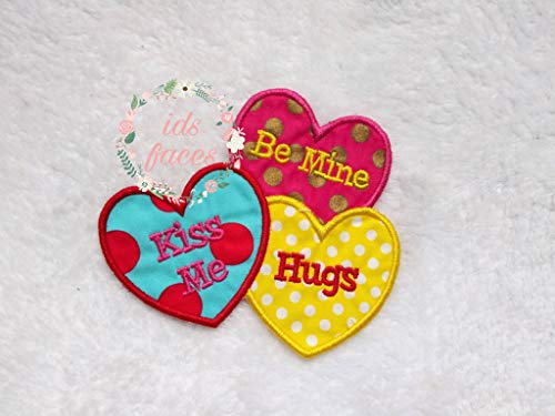 Ready to Ship Large Size Be My Valentine Heart Iron On, embroidery applique patch, fabric patch,valentine patch, heart patch, kids patch