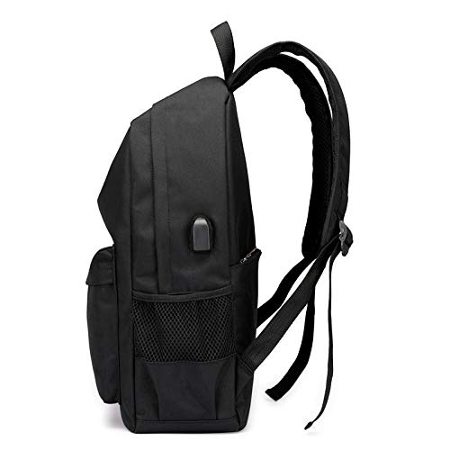 Hiking blue Backpack Breathable Fashion Casual Usb Cycling Travel Outdoor Charging Black Wearable Picnic Men's Mountaineering Bag Zhjb Trend qEwa7aC