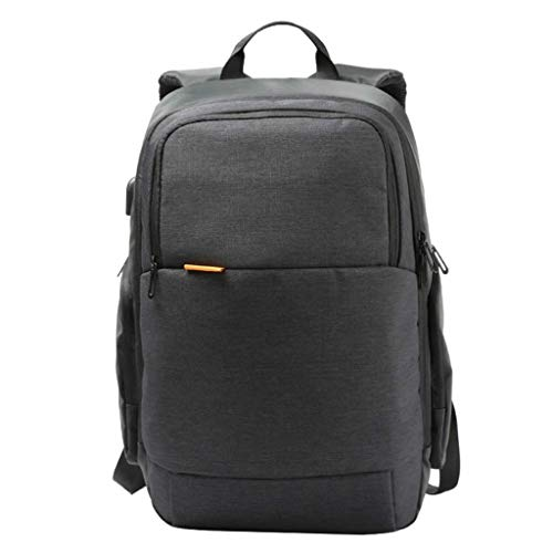 - CS-YP Slim Laptop Backpack with USB Charging Port Anti-Theft Water Resistant School Backpack Travel Rucksack (Color : Black)