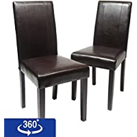 Roundhill Furniture Urban Style Solid Wood Leatherette...