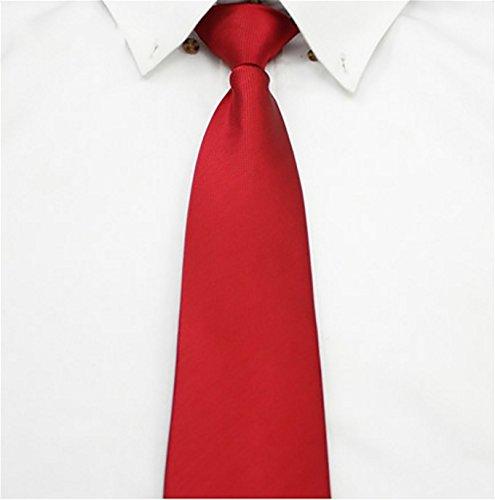 LINGDAI Hombres Negocios Vestido Formal Trabajo Cremallera Tie ...