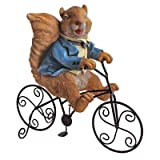 Design Toscano Special Delivery Squirrel Bicycle Messenger Garden Statue, Multicolored