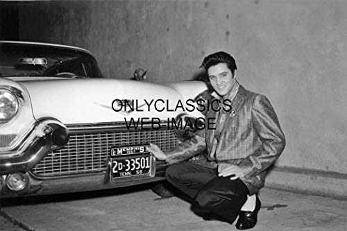 OnlyClassics Elvis Presley & New 1957 Cadillac AUTO Tennesee License Plate 12X18 Photo Poster ()