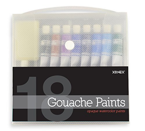 Xonex Snap Case Art Supplies - Gouache Paints, 18PC, 1 Count (30129)