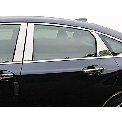 QAA fits 2014-2020 Chevrolet Impala 6 Piece Stainless Pillar Post Trim PP54136: Automotive