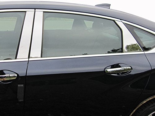 QAA FITS Impala 2014-2019 Chevrolet (6 Pc: Stainless Steel Pillar Post Trim Kit, 4-Door) PP54136