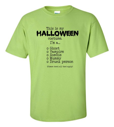 Green Man Costume Walmart (This Is My Halloween Costume Check All That Apply T-shirt-lime-XL)