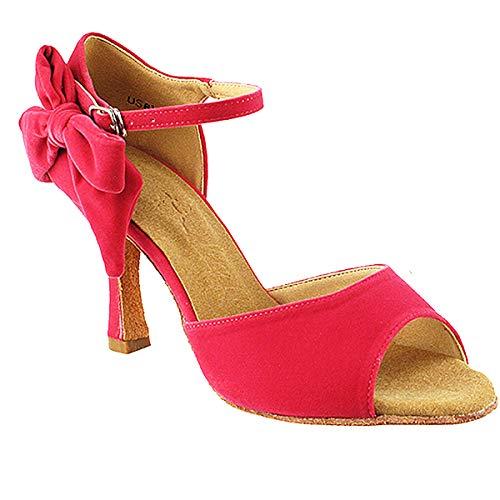 Women's Ballroom Dance Shoes Tango Wedding Salsa Dance Shoes Ribbon Peach Sera7010EB Comfortable - Very Fine 3