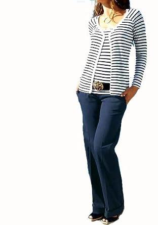 9a8abed1cd APART Damen-Hose Marlenehose Blau Größe 84 (42): Amazon.de: Bekleidung
