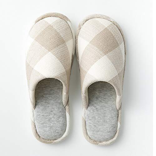De Y Invierno Fondo Grueso Interiores Exteriores En Con Qzhe Calientes Zapatillas Pantuflas Algodón Exterior Para Algodón Otoño Interior Beige Suave Cáñamo Gruesas E 8wxptwY