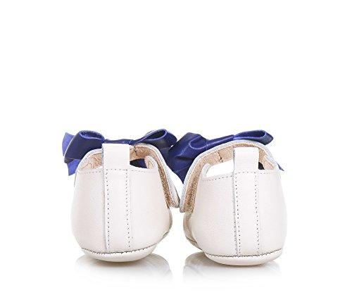 PÈPÈ- Beige Ballerina für die Wiege aus Leder, made in Italy, mit Klettverschluss, auf dem Verschluss, Baby Mädchen