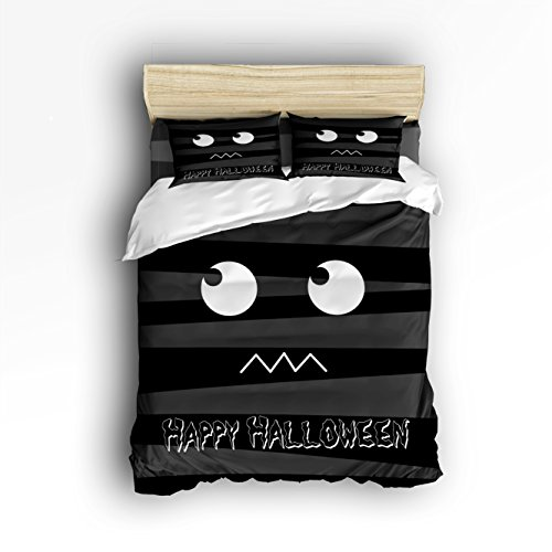 Libaoge 4 Piece Bed Sheets Set, Happy Halloween