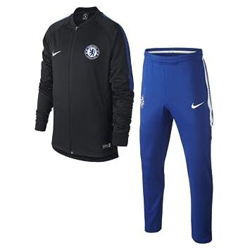 Nike 905396 Survêtement de Football Mixte Enfant, Noir Bleu  Adrénaline Blanc, FR 10517fbf1635