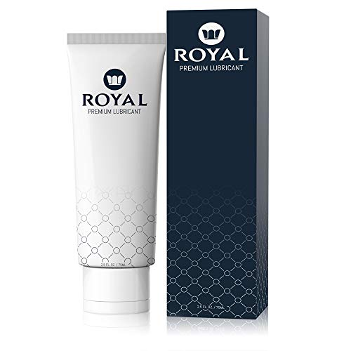 Royal Personal Lubricant for Women & Men - Water Based, Aloe, Organic, Vegan, pH Balanced, Gluten Free, Petroleum Free, Glycerin Free, Edible Premium Lube, 2.5 Ounces