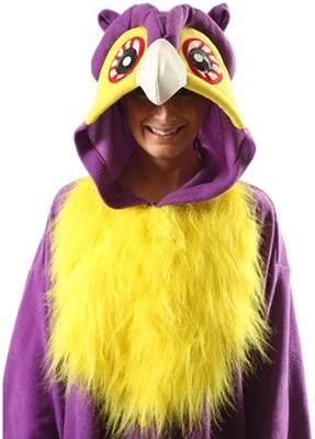 Búho Púrpura - Todo en un disfraz para adultos - Onesie Kigurumi ...