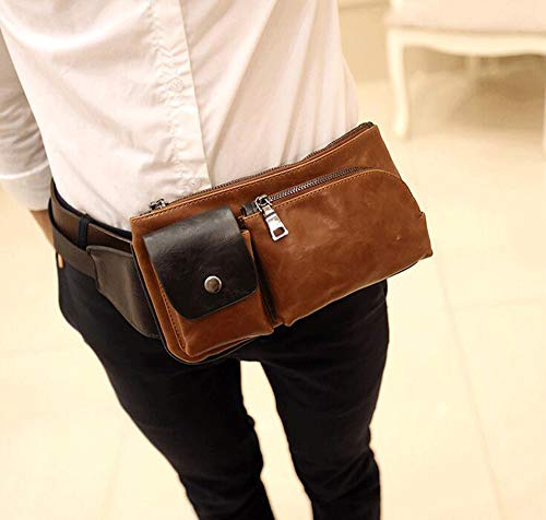 Leisure Shoulder Brown Backpack Bags Vintage Chest Travel Waist Stylish Sling Famesale Outdoor Crossbody ORq1IRc