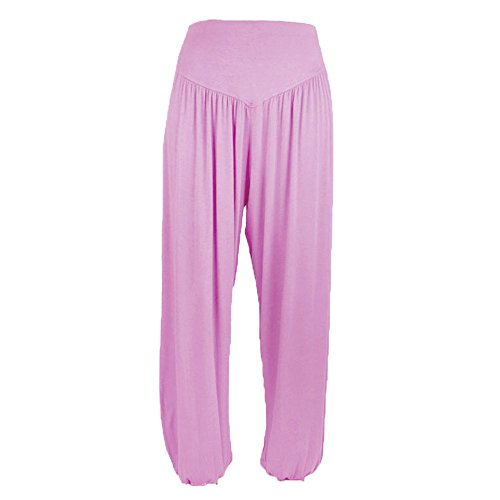 TOTOD Pants for Women Casual Loose Bloomers Elastic Modal Cotton Soft Yoga Dance Harem Trousers -