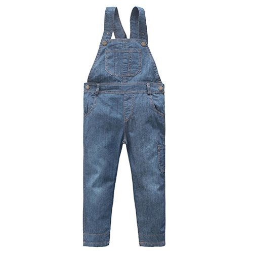 Hoared Spring Denim Jumpsuit For Overalls Girls Jeans Pants Clothes For Toddler Girl 18M-10T Solid -