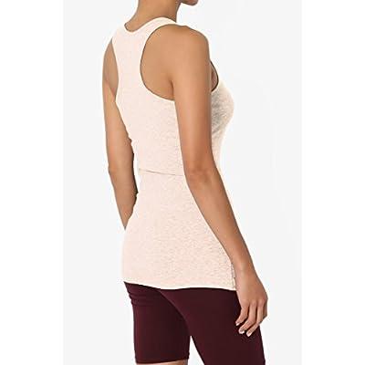 TheMogan Women's Basic Scoop Neck Stretch Cotton Tank Top Sleeveless Casual Tee