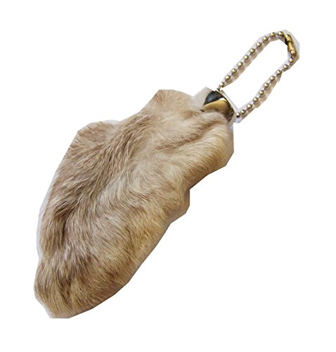 Natural Lucky Rabbit Foot Keychain product image