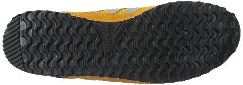Adidas Originals Zx 700 Ejecución de la zapatilla de deporte estilo de vida, negro / gris sólido l Collegiate Gold/Grey/Black