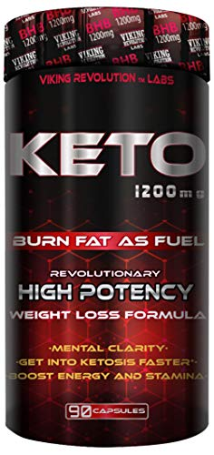Keto Diet Pills - Weight Loss, Fat Burner Supplement - 1200mg Beta-Hydroxybutyrate, Exogenous Ketones - Formulated to Enter Ketosis, Burn Fat, Enhance Mental Focus & Clarity (90 Capsules)