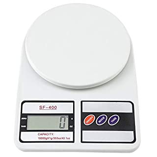 Digital Food Scale, Kitchen Weight Scale Grams and Oz for Baking and Cooking, Food Scale With LCD Digital Screen White 10KG / 1g (10KG / 1g)