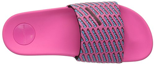 Jacobs Marc Love Multi Sandal Aqua Slide Fuchsia Women's pwqdwnCH