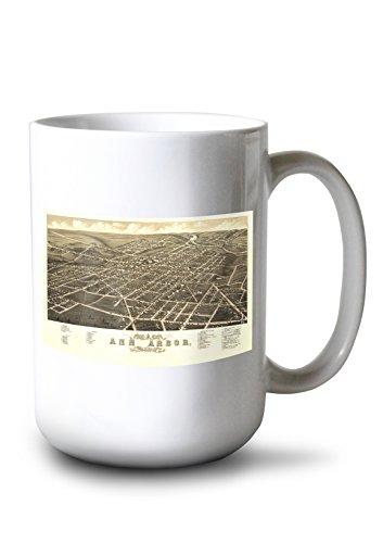 Lantern Press Ann Arbor, Michigan - (1880) - Panoramic Map (15oz White Ceramic Mug)