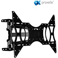 Proxelle TV Wall Mount for most 32-70 LED LCD Plasma Flat Screen Monitor - Tilt -3 degree/+12 degree, Swivel up to 180 degree, Fits a Range of VESA Sizes - Take TV Enjoyment to the Next Level