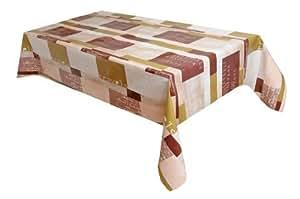 MG Oilcloth-Tablecloth Washable Moderno Cream-Brown ( 649-04 ) - 270 X 140 Cm