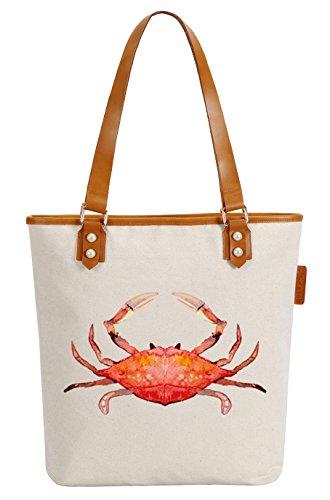 So'each Bolsa de tela y de playa, color natural (Beige) - HBE-UK-ODB-42