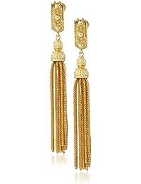 St. Tropez Tassel Gold Clip-On Earrings