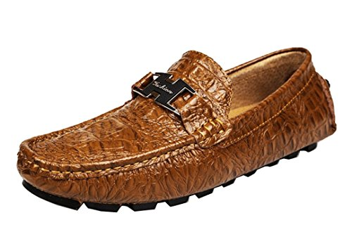 Tda Mens Mode Klassiska Halka På Sömmar Läder Driver Affärs Penny Loafers Skor Brons