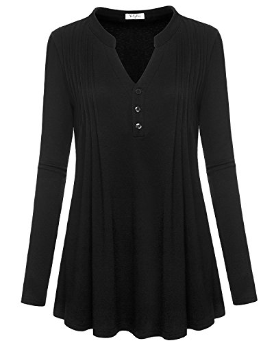 Pleated Button Front Shirt - 8