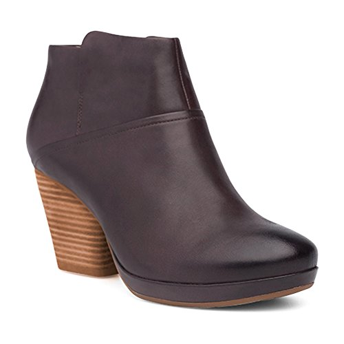(Dansko Women's Miley Ankle Boot Chocolate Burnished Calf 39 M EU (8.5-9)