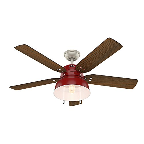 Hunter Fan Company 59309 Mill Valley Ceiling Fan With Light, Large, Barn - Ceiling Valley Light