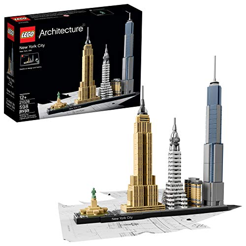 LEGO Architecture New York City 21028, Build It Yourself New York Skyline Model Kit for Adults and Kids (598 Pieces)