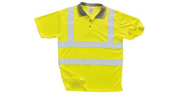 Portwest S477YERL EN471 Large Hi Vis Polo T Shirt - Yellow by ...
