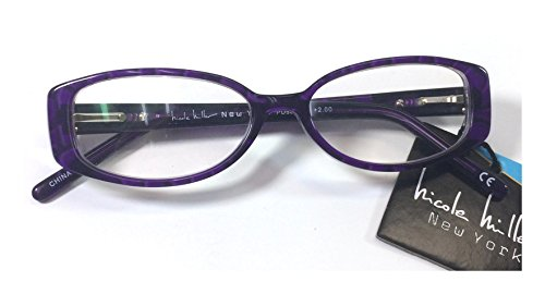 Nicole Miller New York LO0414 Willow PRP +1.50 Reading Glasses (Without Case) Each ()