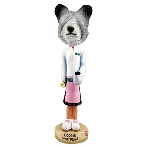 (Conversation Skye Terrier Waitress Doogie Collectible Figurine)