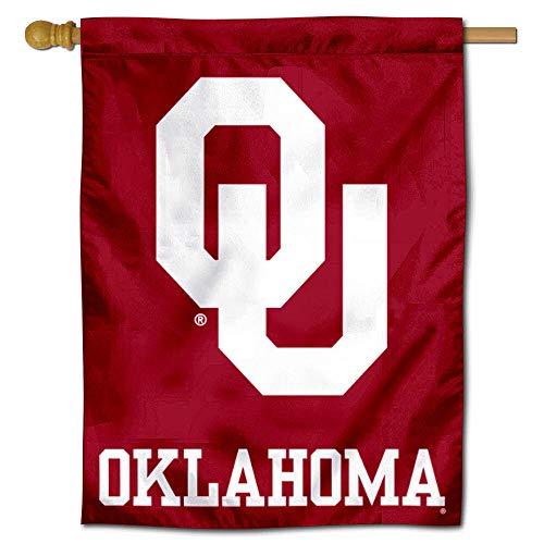 Oklahoma Sooners OU House Flag 30 (w) x 40 (h) Inches