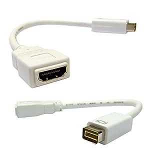 C&E CNE35342 Mini-DVI to HDMI Adapter Cable, Mini-DVI Male to HDMI Female, 6 inch