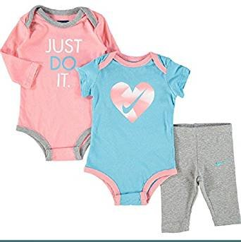 Nike Blue & Pink Three Piece Outfit Set bodysuit & leggings set baby shower  Gift Idea