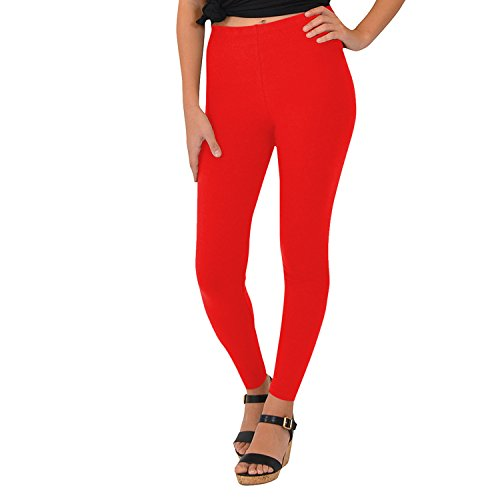 Stretch is Comfort Women's Cotton Leggings RED 2X