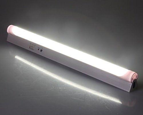 Lithium-Ionen-Akku 3,7V 2200mAh kaltwei/ß 6000 K 340mm Wand oder Deckenmontage LED Akku Notleuchte mit Netzkabel 230V 4W 360lm