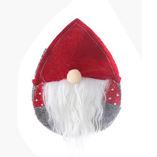 niumanery Fork Knife Cutlery Holder Silverware Tableware Bag Swedish Santa GNOME Christmas A
