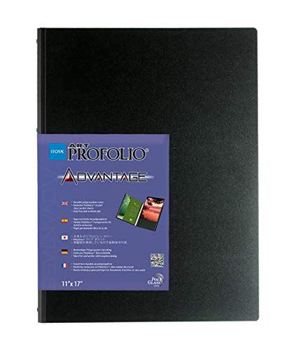 Profolio Art - ProFolio by Itoya, Art Profolio Advantage, 24 Sheets Presentation Book - Portrait, 9 x 12 Inches