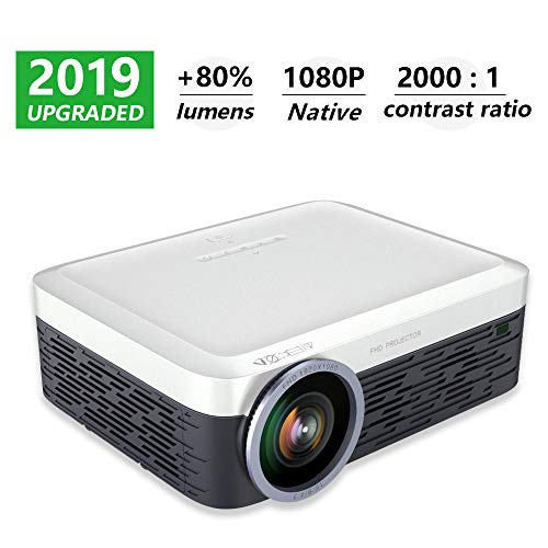 1080P Projector Native,HDEYE Full HD Smart Home Theater Projector - Up 150 inch Big Screen,Android 5.0 Rich Video Resources,Dual Speaker Stereo Surround Sound,Compatible with ROKU TV Sticks,PS4,DVD